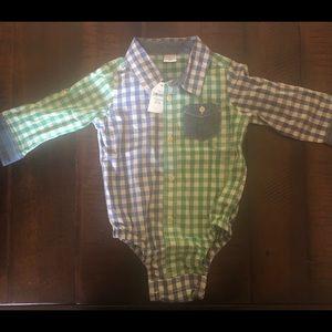 Gap baby boy button dress shirt 12-18 mo NWT!